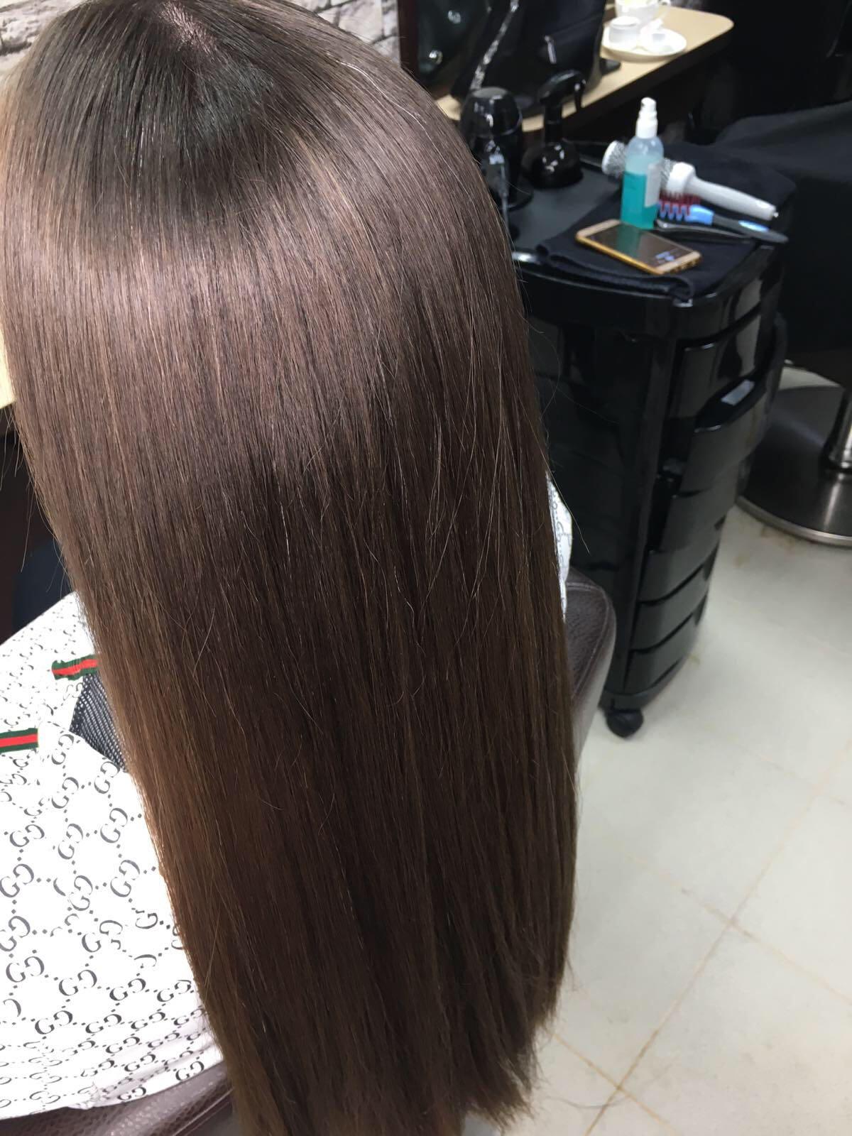 Химическое выпрямление волос фото